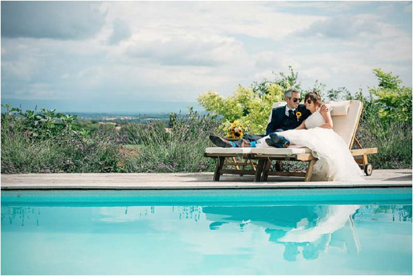 poolside wedding south of france