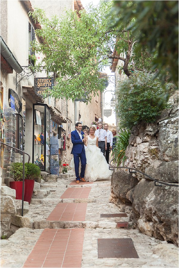 wedding through Provence village