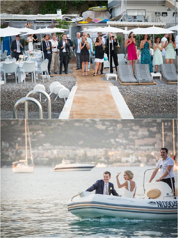 wedding transport boat