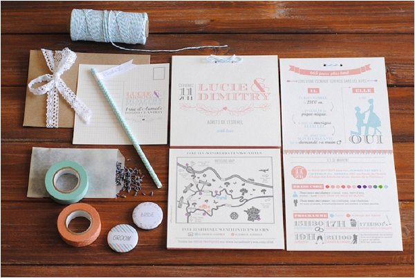 French wedding stationery