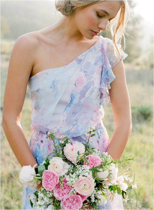 floral print bridesmaid dress