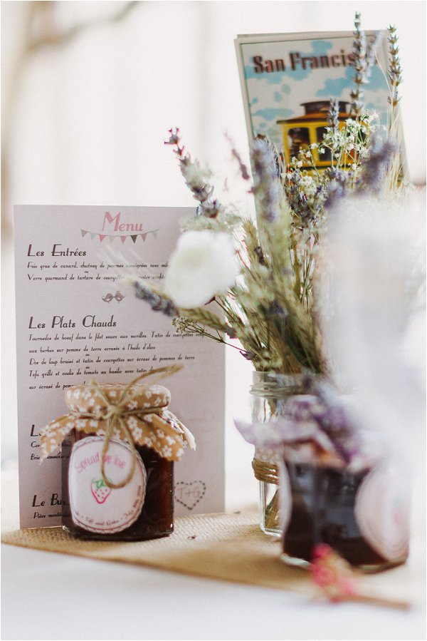 mini jam wedding favours