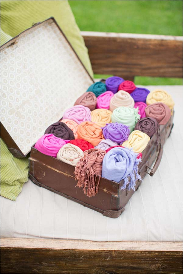 pashmina wedding favours