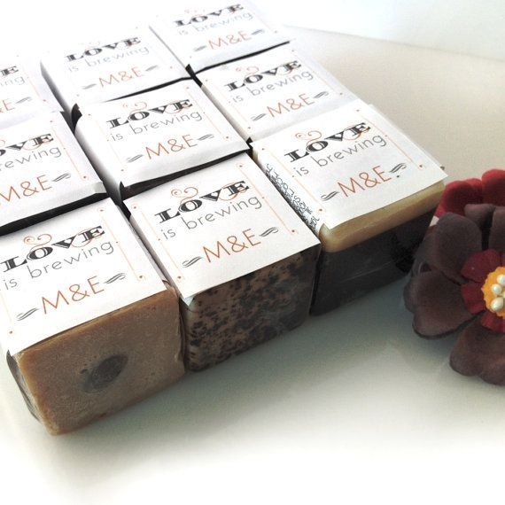 personalised wedding soap