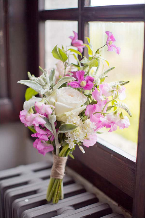 pink wild flower bouquet