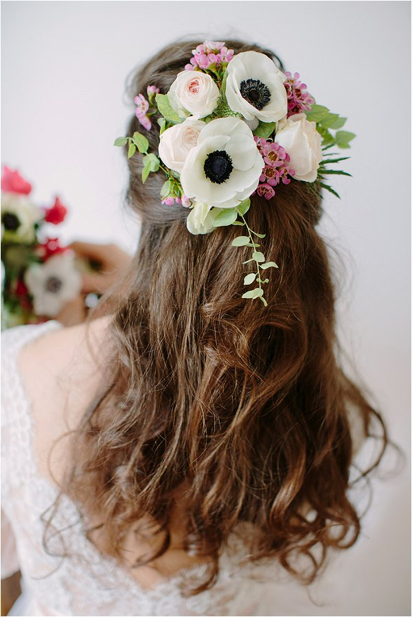 real flower bridal hairpiece
