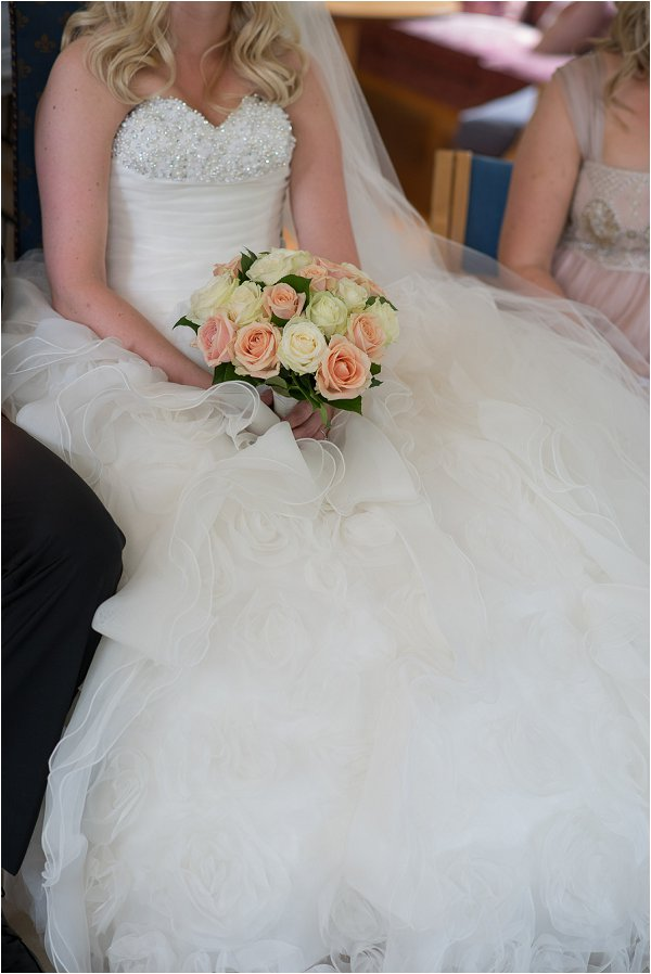 ruffle wedding dress
