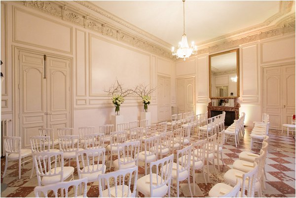 Chateau wedding ceremony room
