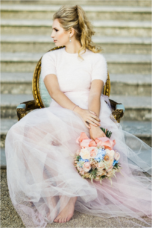 Fairytale bridal outfit