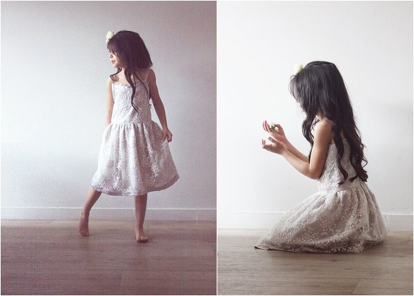 Off white flower girl dress