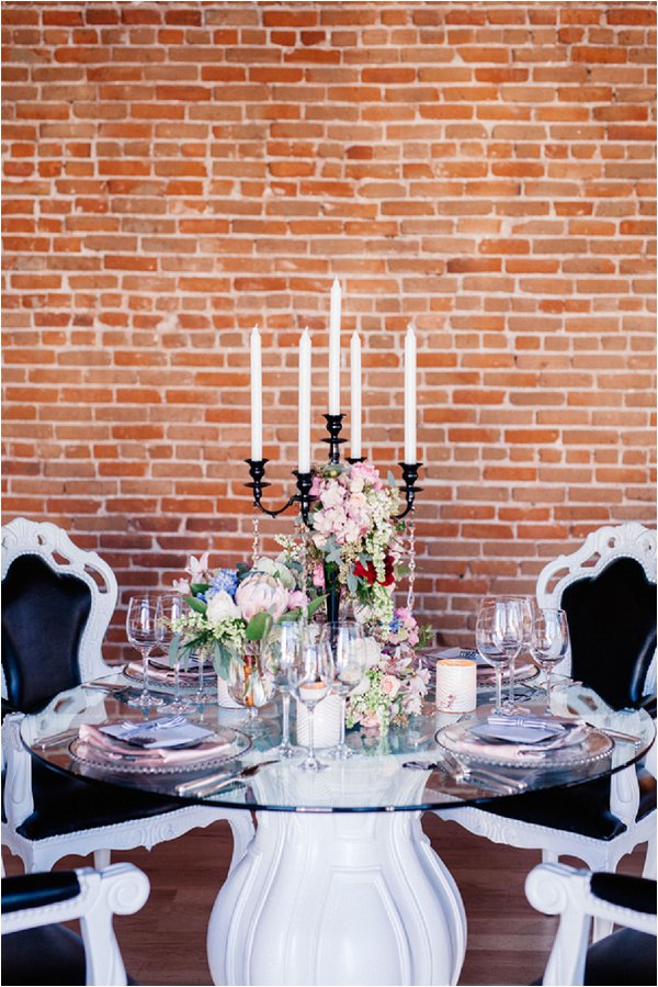 luxe wedding table setting
