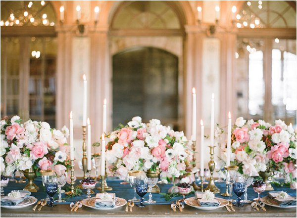luxury wedding table flowers