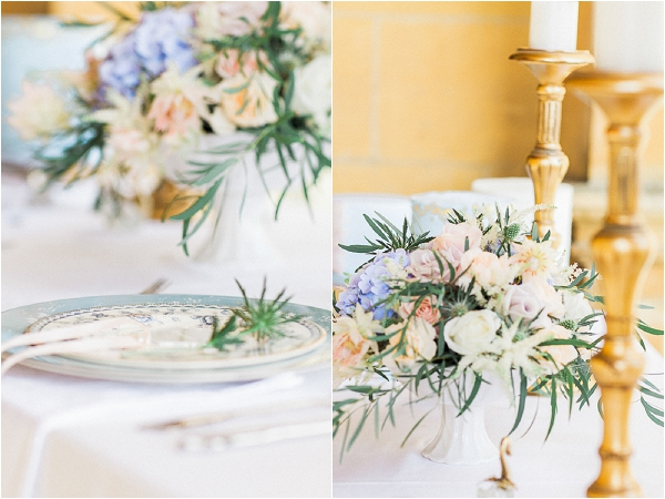 pastel wedding table ideas