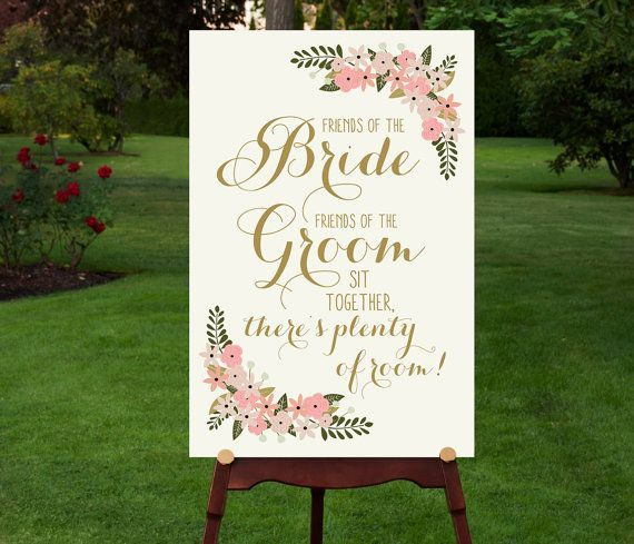 pretty printable seating sign on Etsy