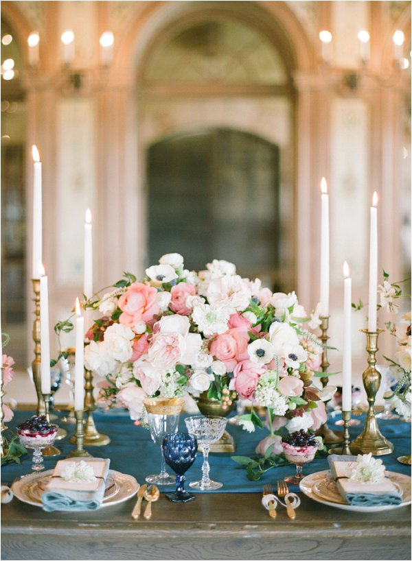 romantic wedding table styling