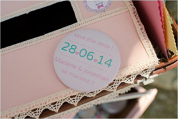 save the date badges