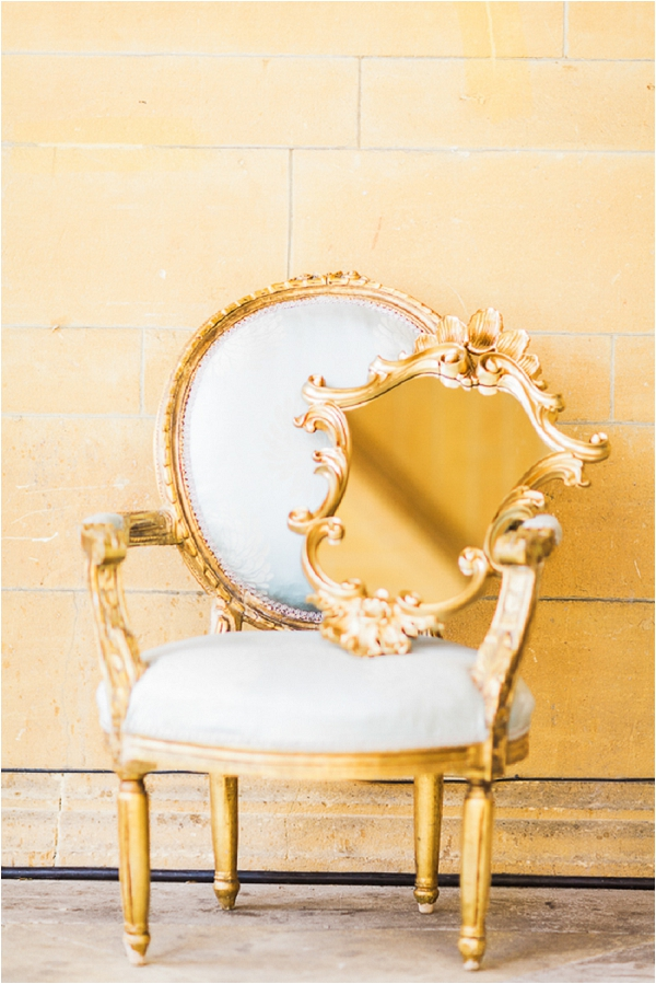 vintage gold French style chair
