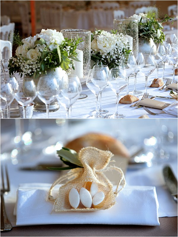 white and green themed wedding table