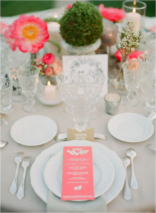 Coral and ivory wedding theme