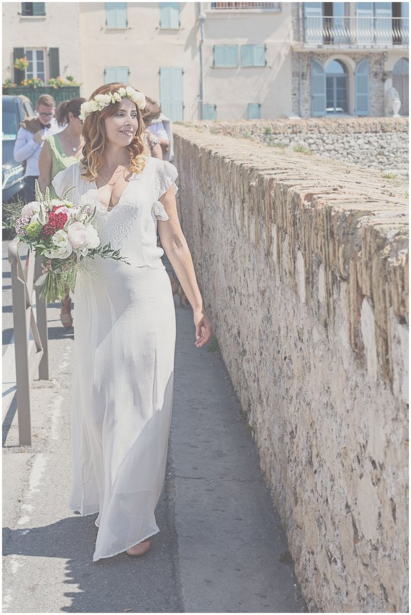 French bohemian wedding dress