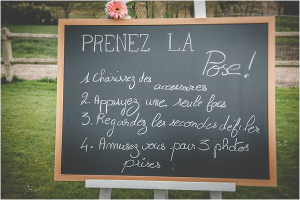 French wedding signs