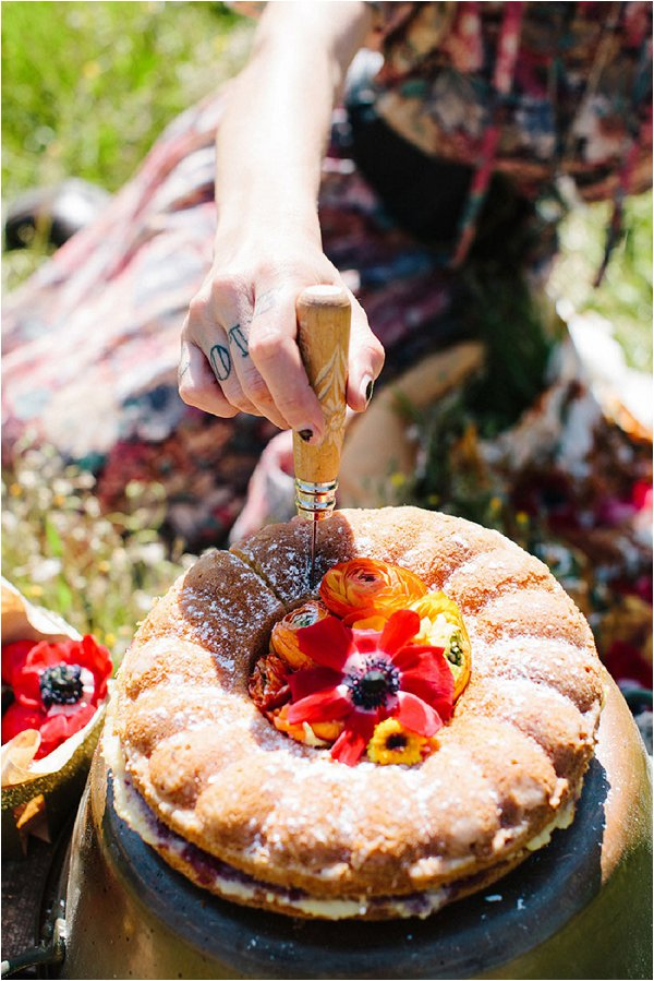 Picnic wedding cake