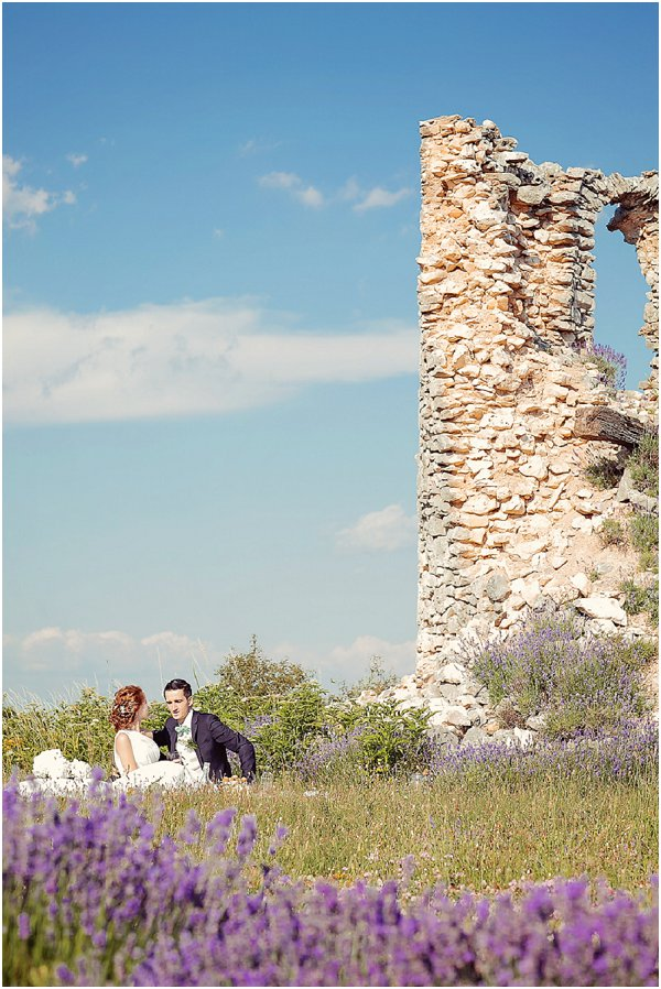 Provence lavender field wedding