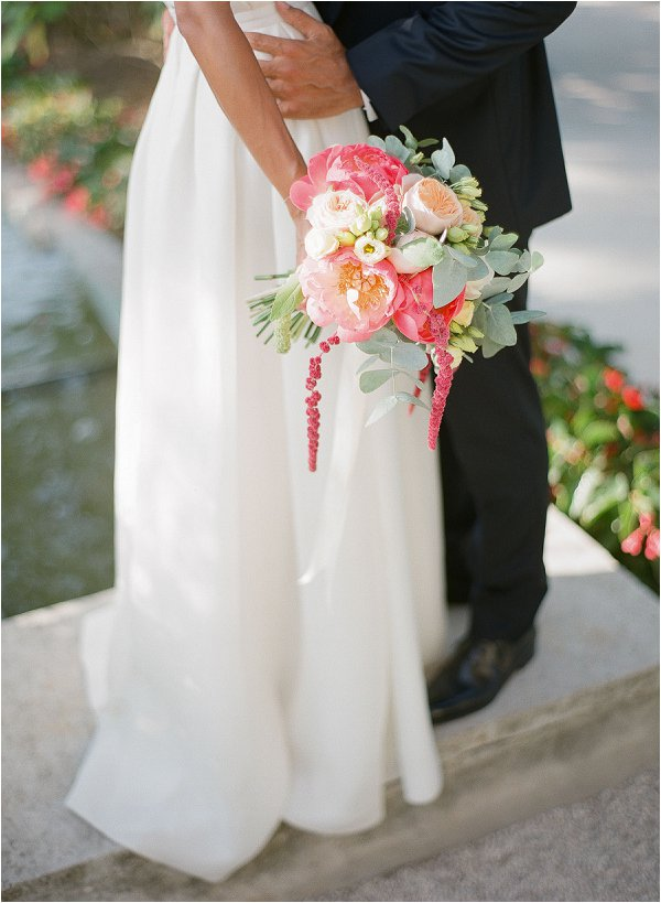 coral and ivory wedding