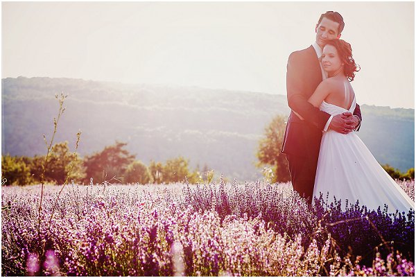get married in a lavender field