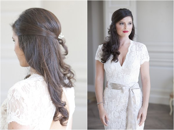 half up bridal hairstyle