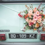mint wedding car