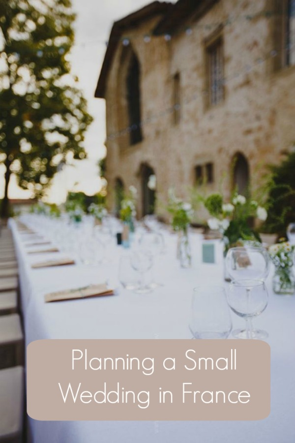 planning small wedding in France