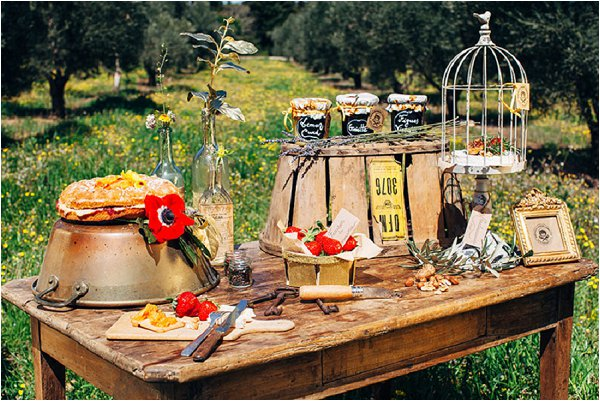 savoury wedding table