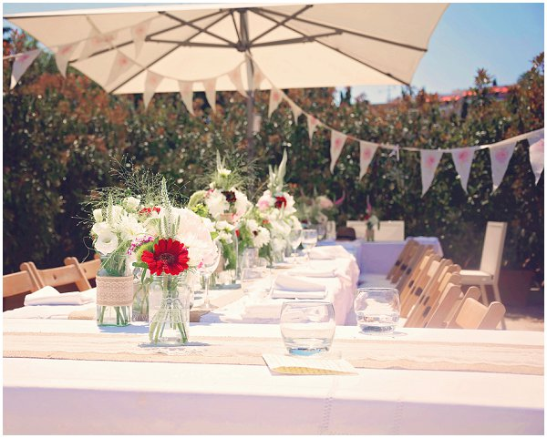 summer pretty wedding tables