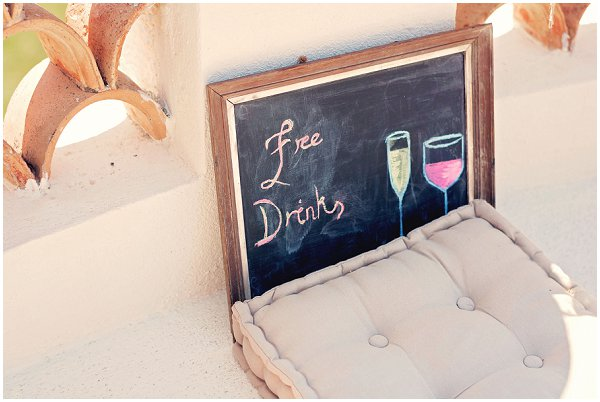 wedding drinks sign