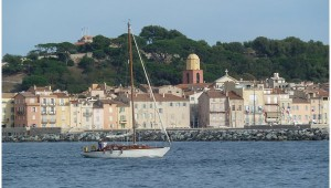 St Tropez from the sea