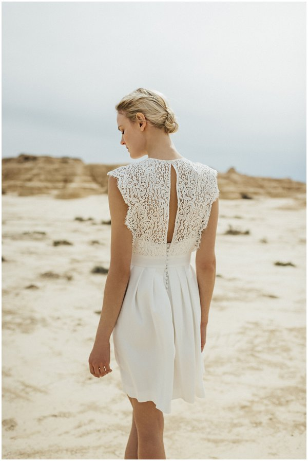 delicate back detailing on wedding dress
