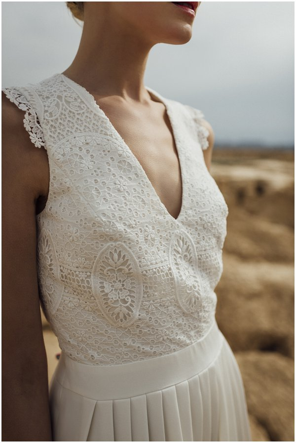 delicate wedding dress detailing