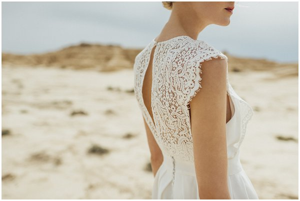lace back detailing dress