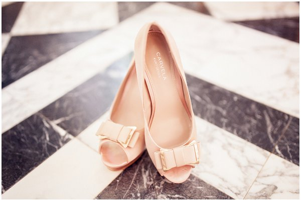 peach carvela shoes