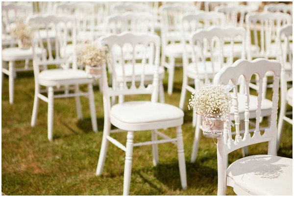 pretty white wedding chairs