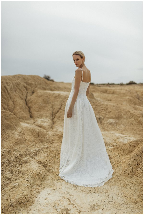 simple bohemian wedding dress