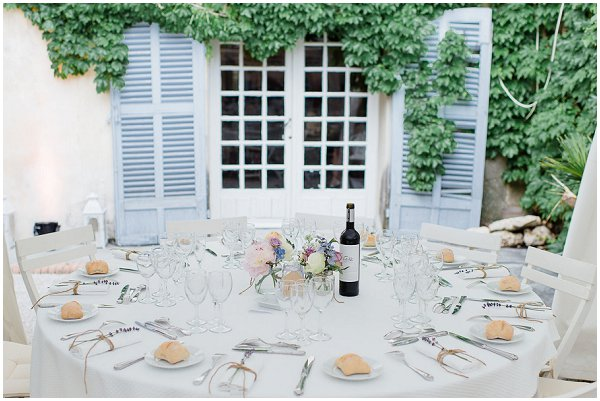 simple pretty wedding tables