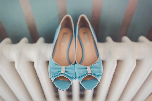 Pale blue shoes