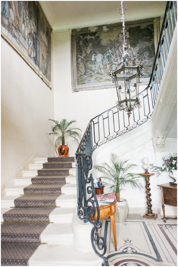 French chateau stairs