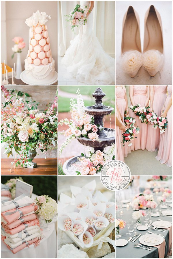 Peach french wedding style french inspired peach and blush wedding inspiration junglespirit Images
