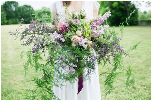 Rustic and wild wedding bouquet