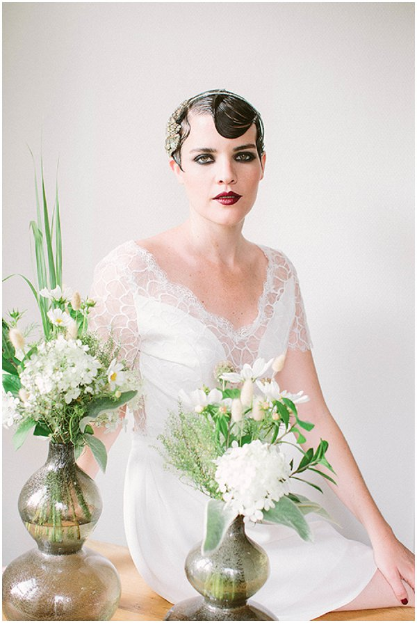 cropped hairstyles for brides