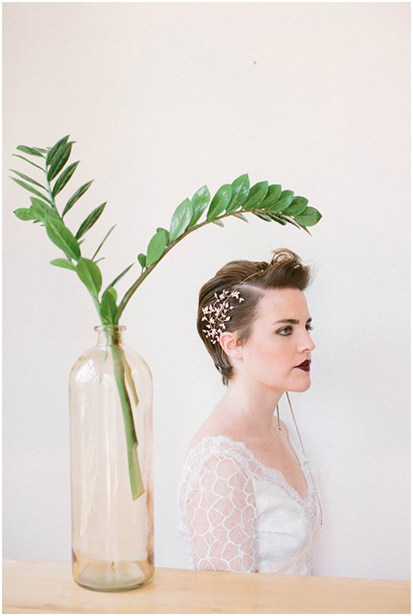 dramatic short bridal hairstyles