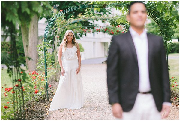 first look on elopement